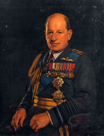 Edward Irvine Halliday, 1902 - 1984 Marshal of the Royal Air Force, Charles Portal, 1st Viscount Portal of Hungerford , KG, GCB, OM, DSO, & Bar, MC 1893- 1971 | Artware Fine Art