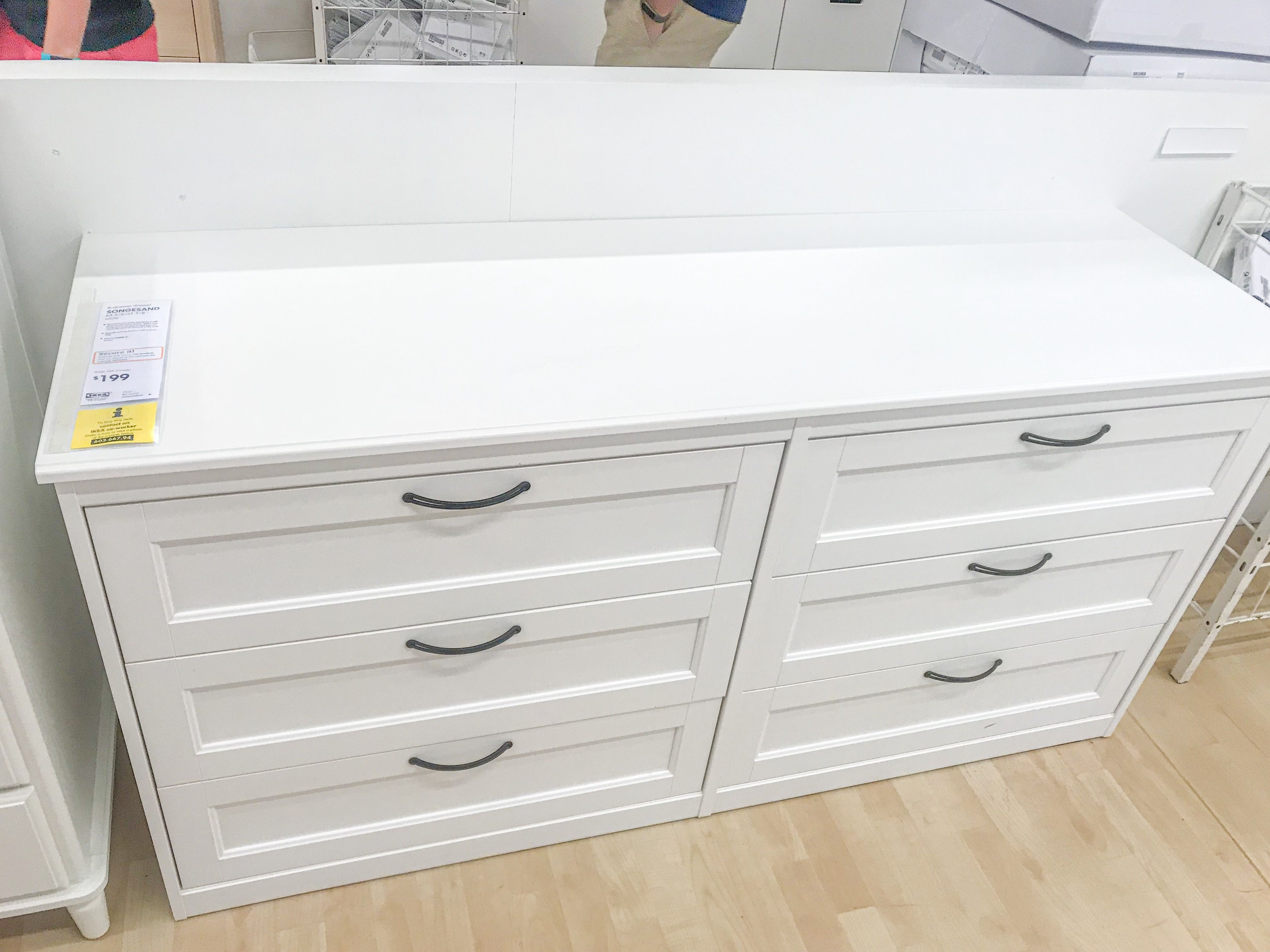 Best Songesand 6 Drawer Dresser White 63 3 8X31 7 8 In 2020 400 x 300