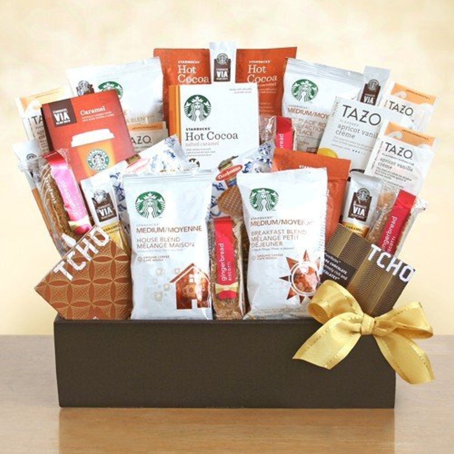 Tazo Tea Delights Premium Coffee and Snacks Gift Basket by Organic Stores -- Awesome products selected by Anna Churchill