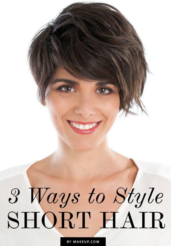 Ways To Style Short Hair 3 Ways To Style Short Hair  Short Hair Gatsby And Shorts