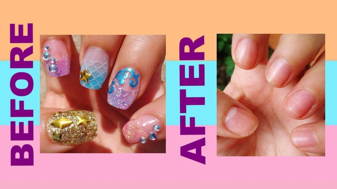 How to Remove Acrylic Nails Fast and Easy at Home | Remove acrylic ...
