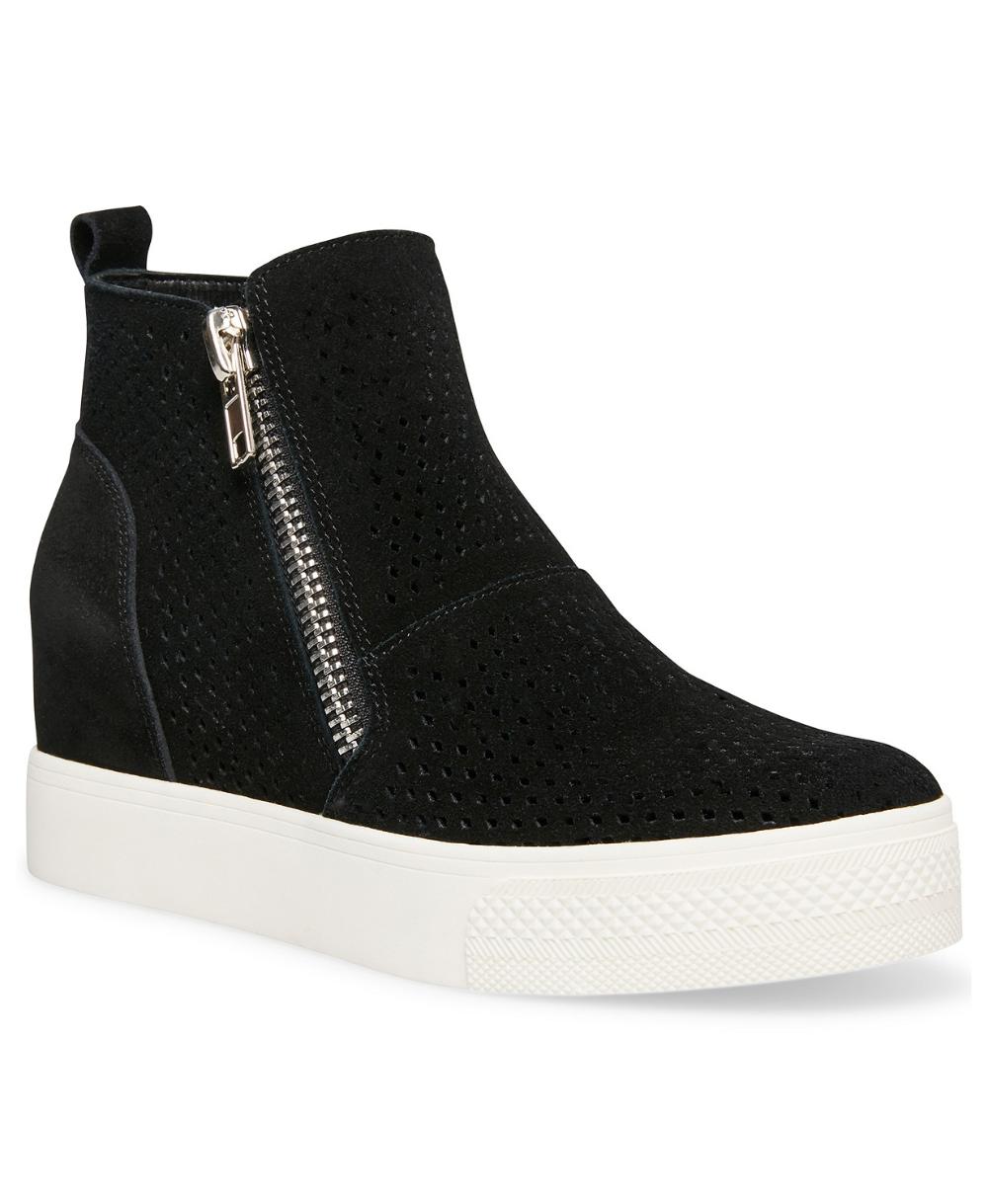 Steve Madden Women S Wedgie Wedge Sneakers Reviews Athletic Shoes Sneakers Shoes Macy S Work Shoes Women Black Wedge Sneakers Trending Shoes