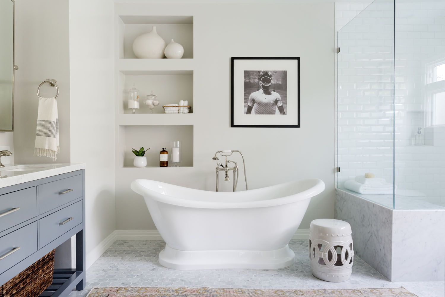 A Spa-Like Bathroom Makeover in Mar Vista | Rue | Bathrooms ...