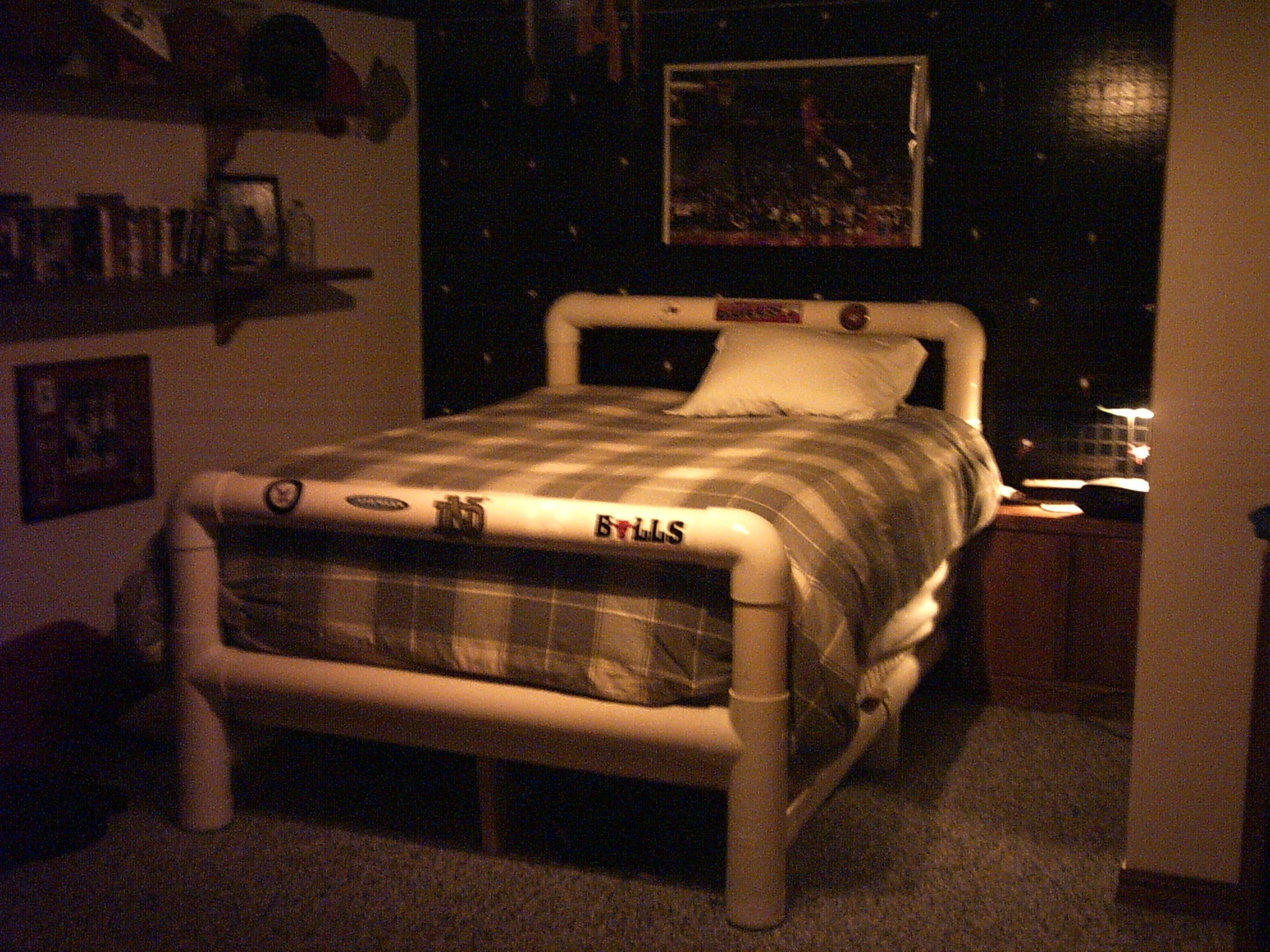 How to Build a Bed Frame from PVC Pipe … Pinteres…