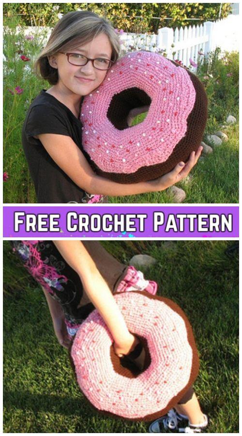 Crochet Giant Donut Pillow Free Crochet Pattern Video