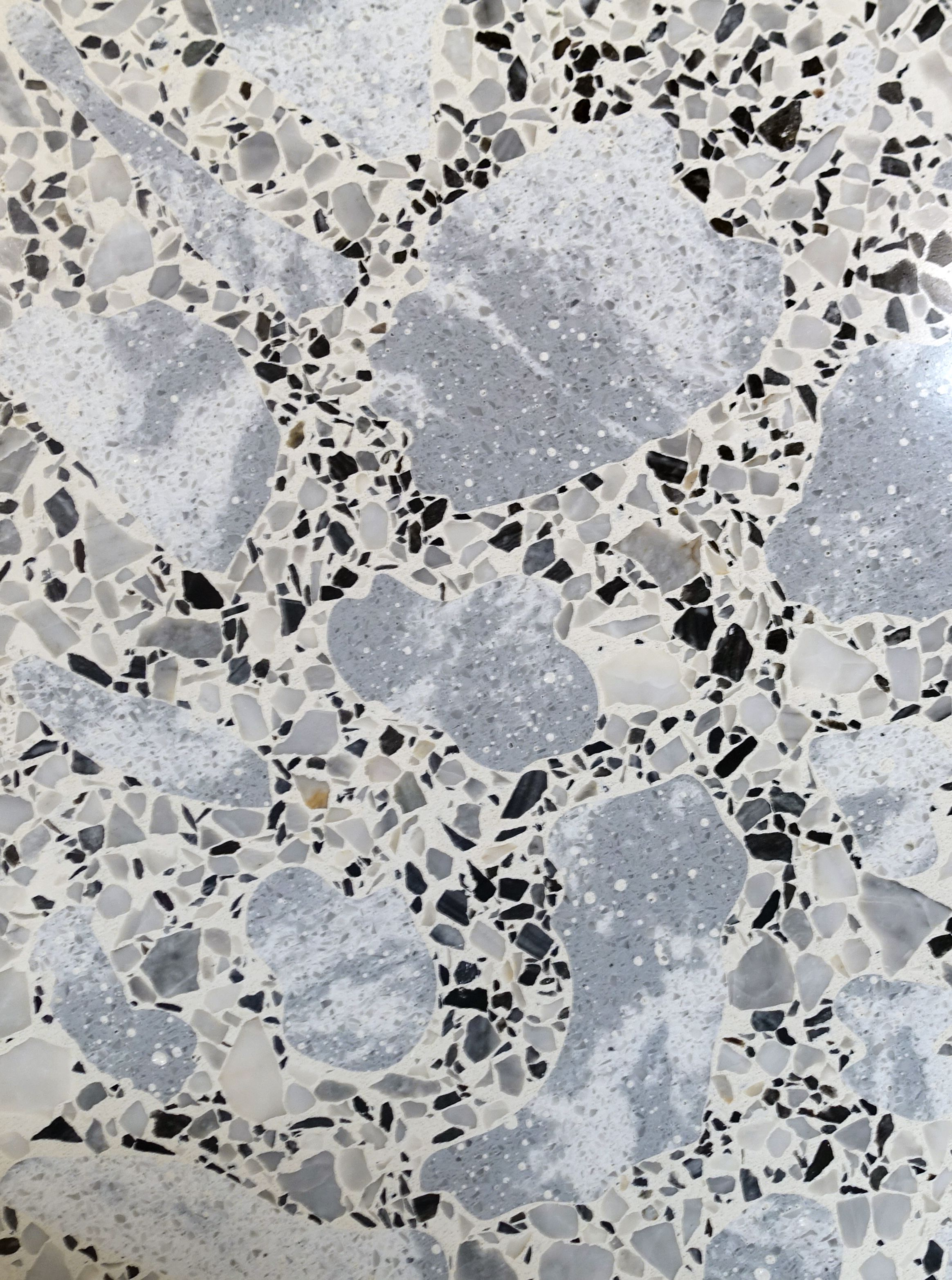 Venetian terrazzo chips are the new trend in 2017. This interesting  architect sample features the