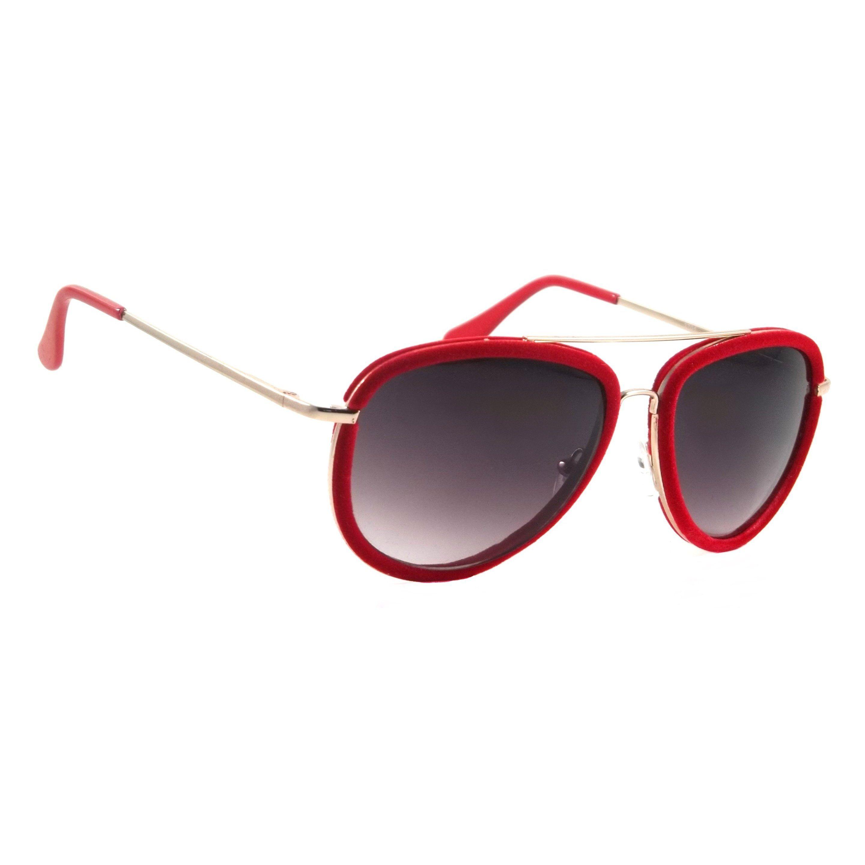 84b49e624329 Retro Aviator Sunglasses Velour Vintage Style Metal Suede Frame Special  Edition