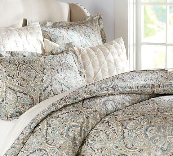 Mackenna Paisley Duvet Cover Sham Blue Paisley Duvet Paisley Bedding Bedroom Rug Placement