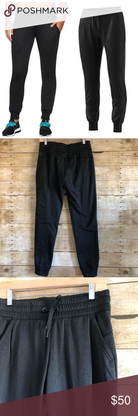 Adidas Black Climawarm Fleece Jogginghose NWT  