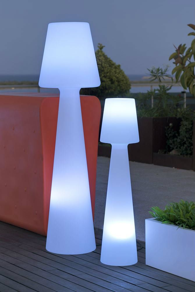 Delightful Lighthouse White Floor Lamp | Find Incredible Outdoor Floor Lamps To Use In  A Deck Or