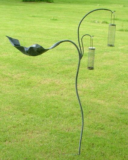Metal Bird Feeders And Bird Baths By Artist Ian Gill Metal Birds