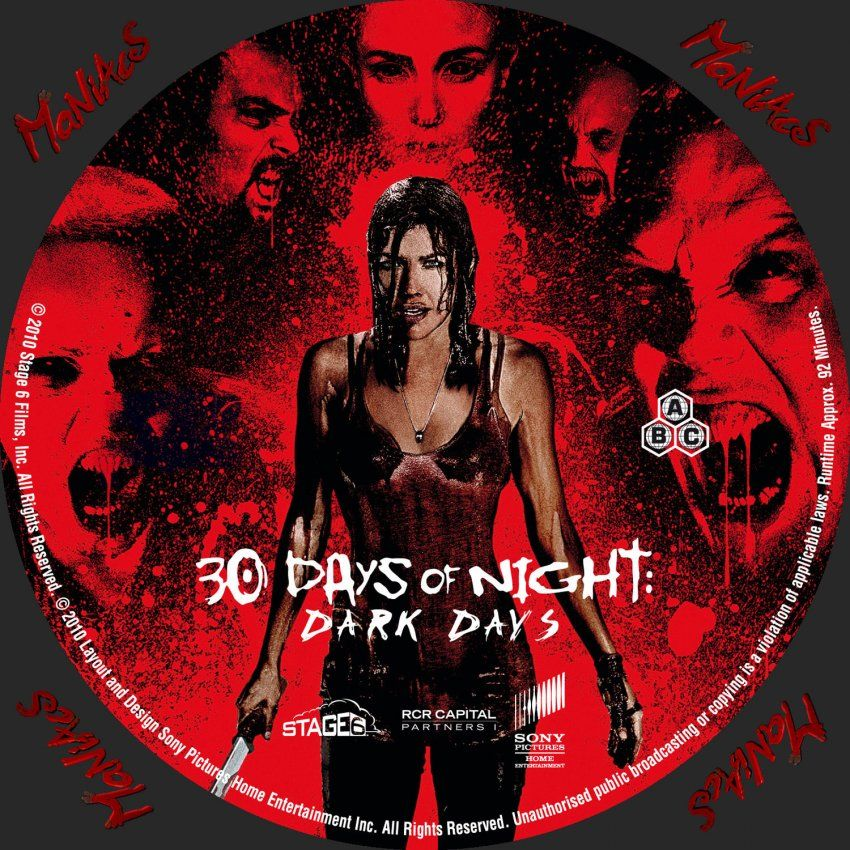 30 Days Of Night 30 Days Of Night Dark Days Custom Dvd Labels