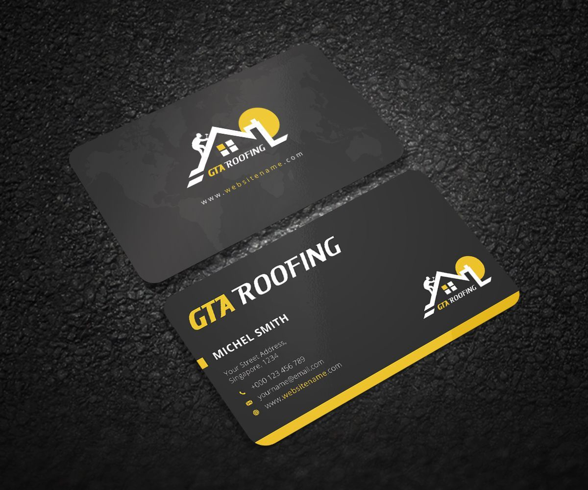 Roofing Business Cards 11 Examples To Inspire You 3 Free Templates Construction Business Cards Business Cards Layout Roofing Business