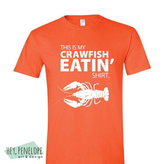 Unisex Crawfish Eatin' Shirt by HeyPenelopeDesign on Etsy, $20.00 #louisiana