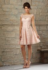 Bridesmaids Dress: Mori Lee LACE AFFAIRS SPRING 2015 Collection: 725 - Lace