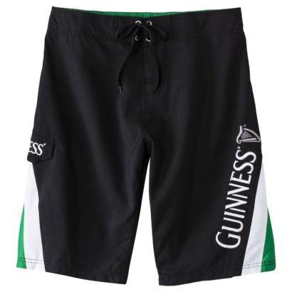 cb2db9336c8 Men's Guinness Board Shorts - Black Pieced | Clothes, Hair, Nails ...