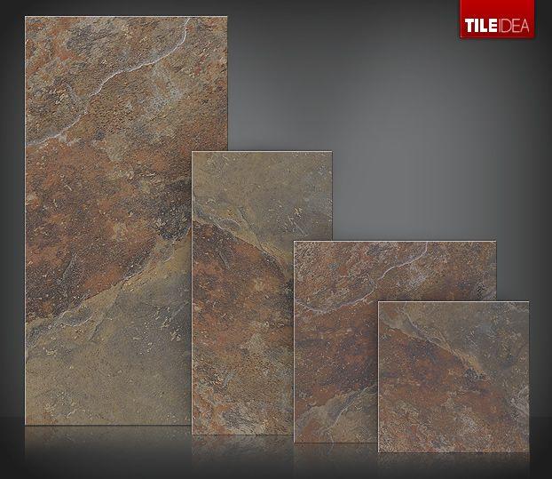 Gray And Brown Slate Tiles Indiana