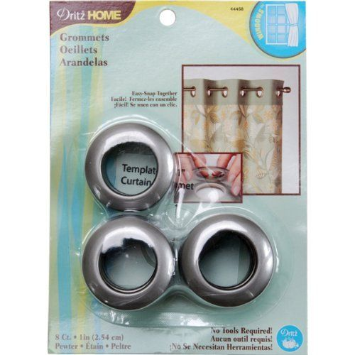 Dritz 44458 Curtain Grommets Pewter 1 Inch 8 Pack By Dritz Http Www Amazon Com Dp B007qnxd1w Ref Cm Sw R Pi Dp Grommet Curtains Plastic Grommets Grommets