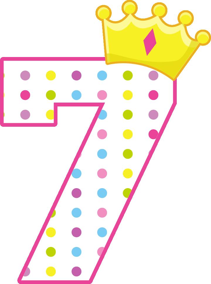Princesas e Príncipes - PrincessCrownNumbers_7.png - Minus   design ...
