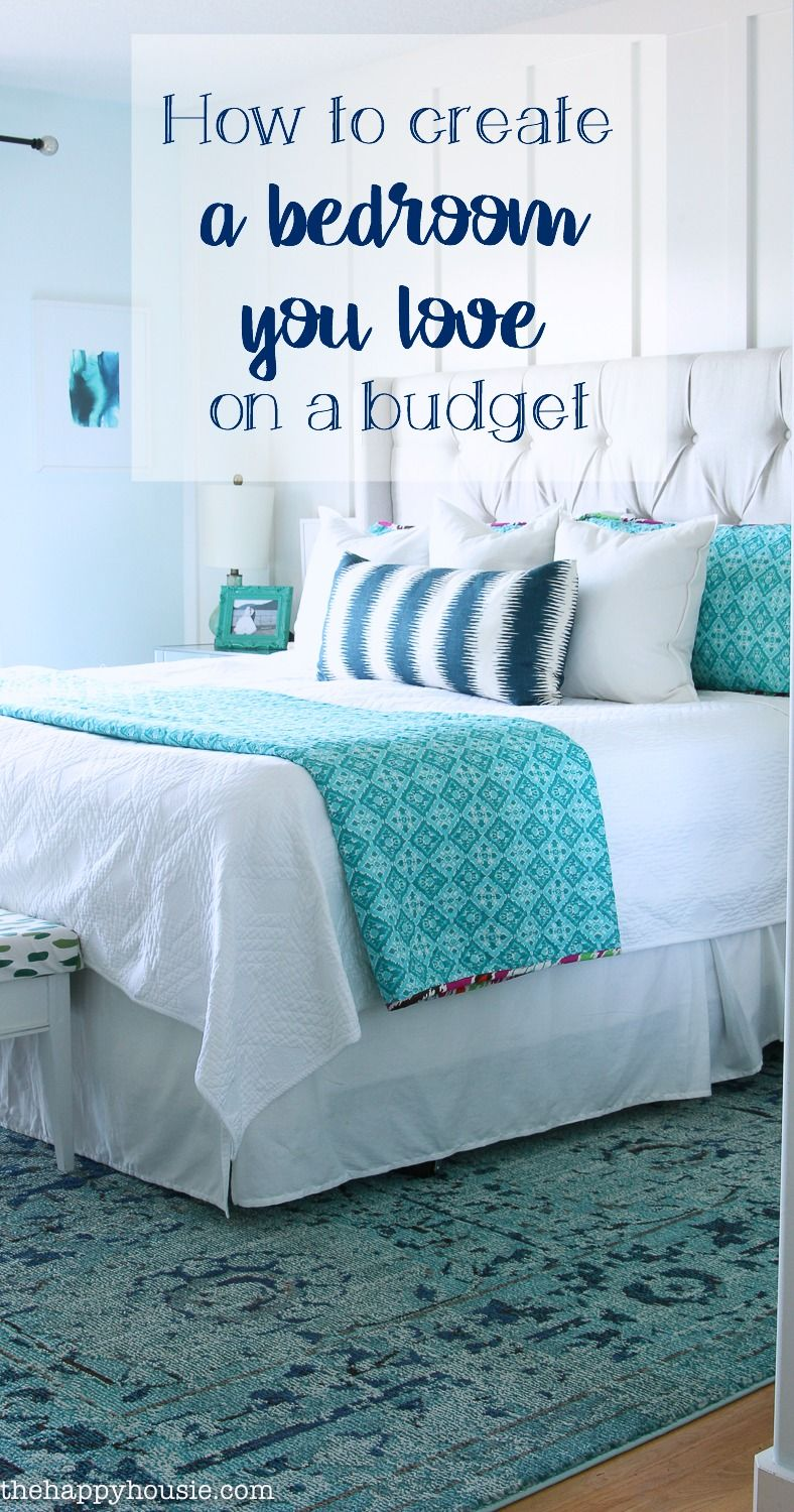 How To Decorate Your Master Bedroom On A Budget The Happy Housie Bedroom Decor On A Budget Bedroom Ideas Master On A Budget Master Bedrooms Decor