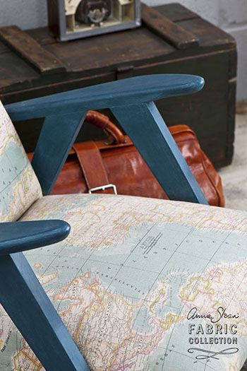 Vintage world map fabric on aubusson blue painted chair kcmkrause vintage world map fabric on aubusson blue painted chair kcmkrause but with like the brown maps you prefer gumiabroncs Image collections