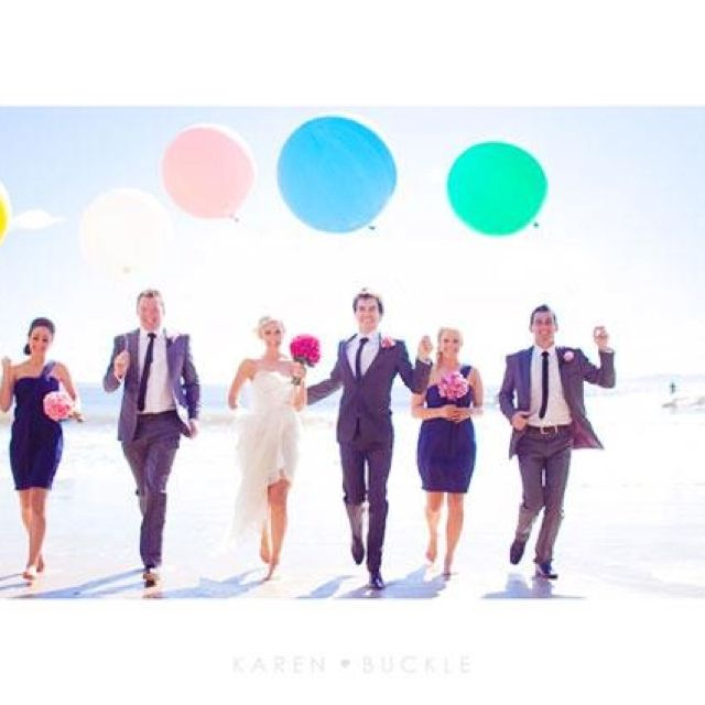 I love big coloured balloons!! By Karen Buckley Photography (she is amazing)