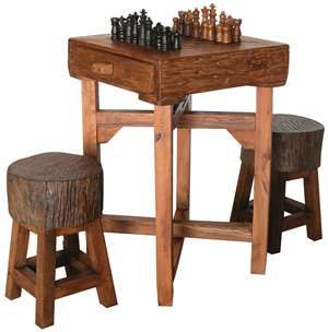 Hill Country Chess Table S Chess Table Game Table And Chairs Game Room Furniture