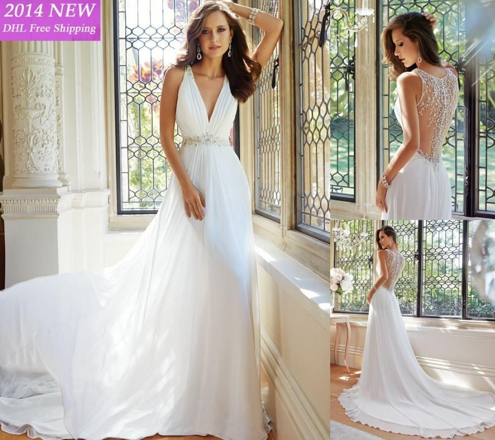 Wholesale new fashion boho wedding dresses white ivory lace