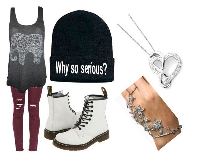 """""""Lalie"""" by leahcleo ❤ liked on Polyvore featuring Dr. Martens"""