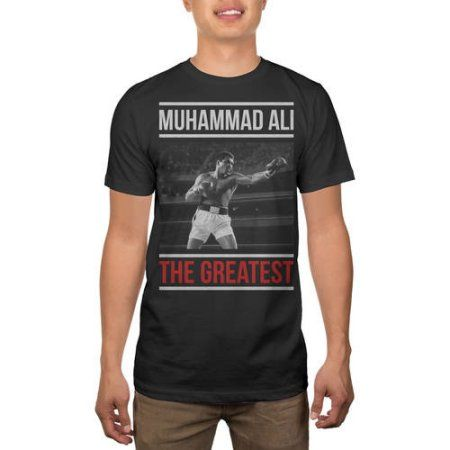 Muhammad Ali Men's The Greatest Graphic Tee, Size: Large, Black