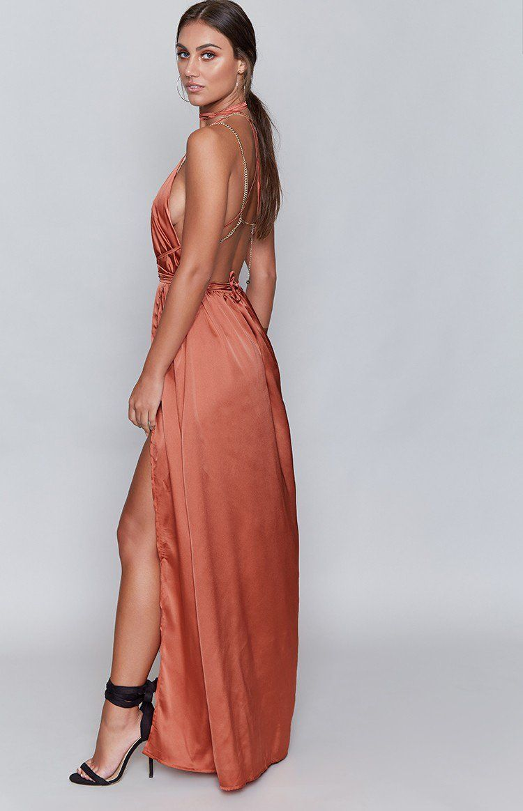 c0fb4d1c17 Allow your urban goddess to emerge amongst the inner city decay (hunger  games style) in the Pandora Dress Rust. Be the girl on fire in stunning  auburn rust ...