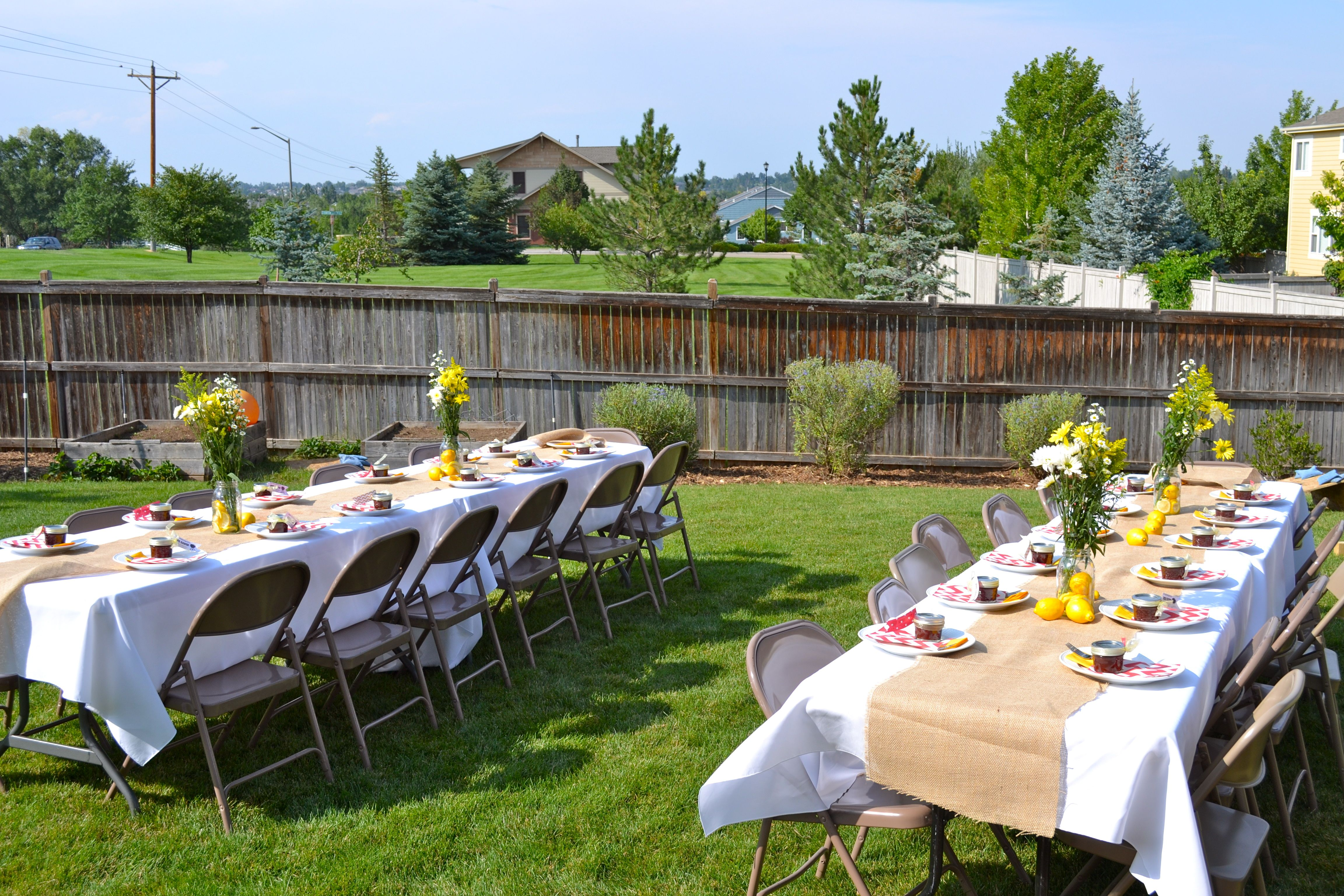 setting up a back yard baby shower - Google Search ...