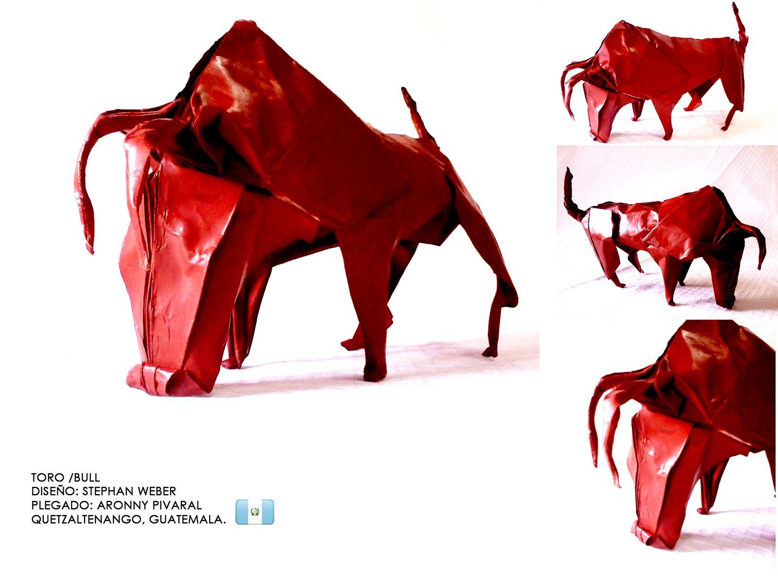 origami toro    bull 2 dise u00f1o   stephan weber plegado   aronnypivaral  quetzaltenango   xela