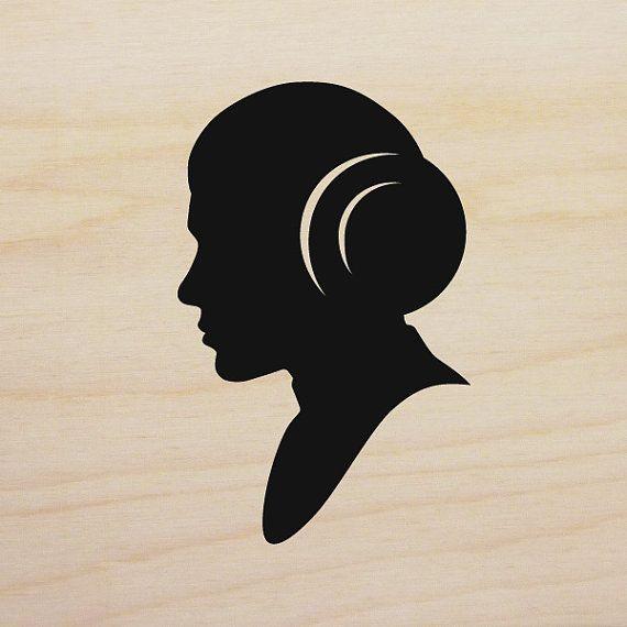 Princess Leia Silhouette Disney Star Wars Silhouette