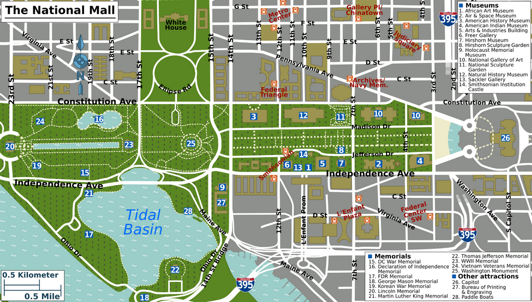 Map of Dc Monuments Layout Yahoo Image Search Results Places