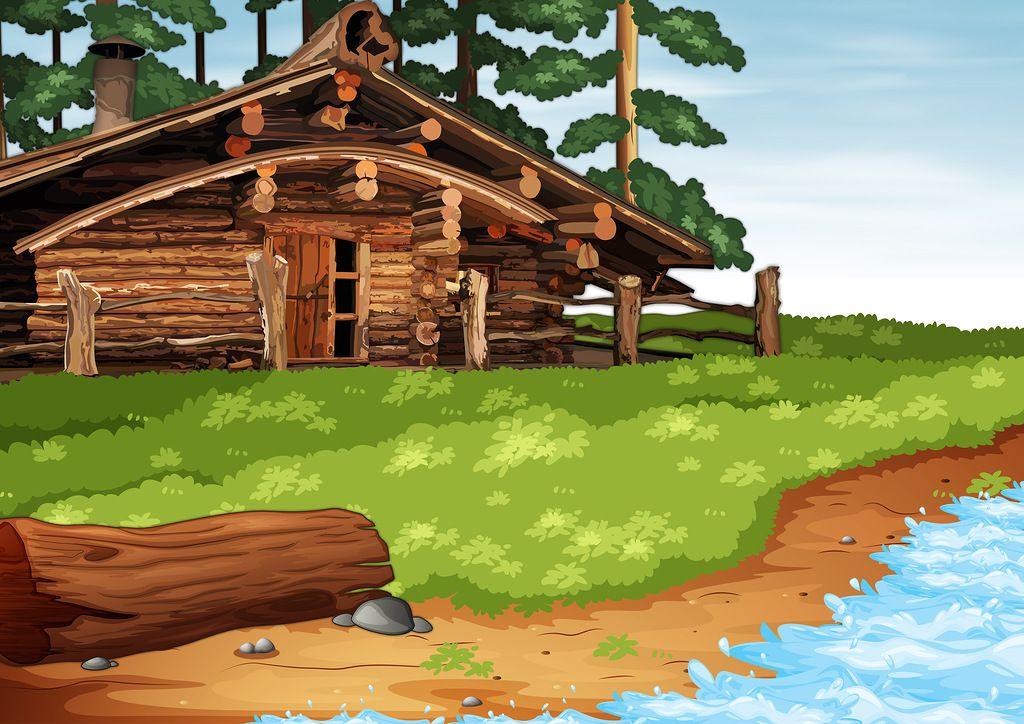 картинка дома из сказки золотая рыбка раздела