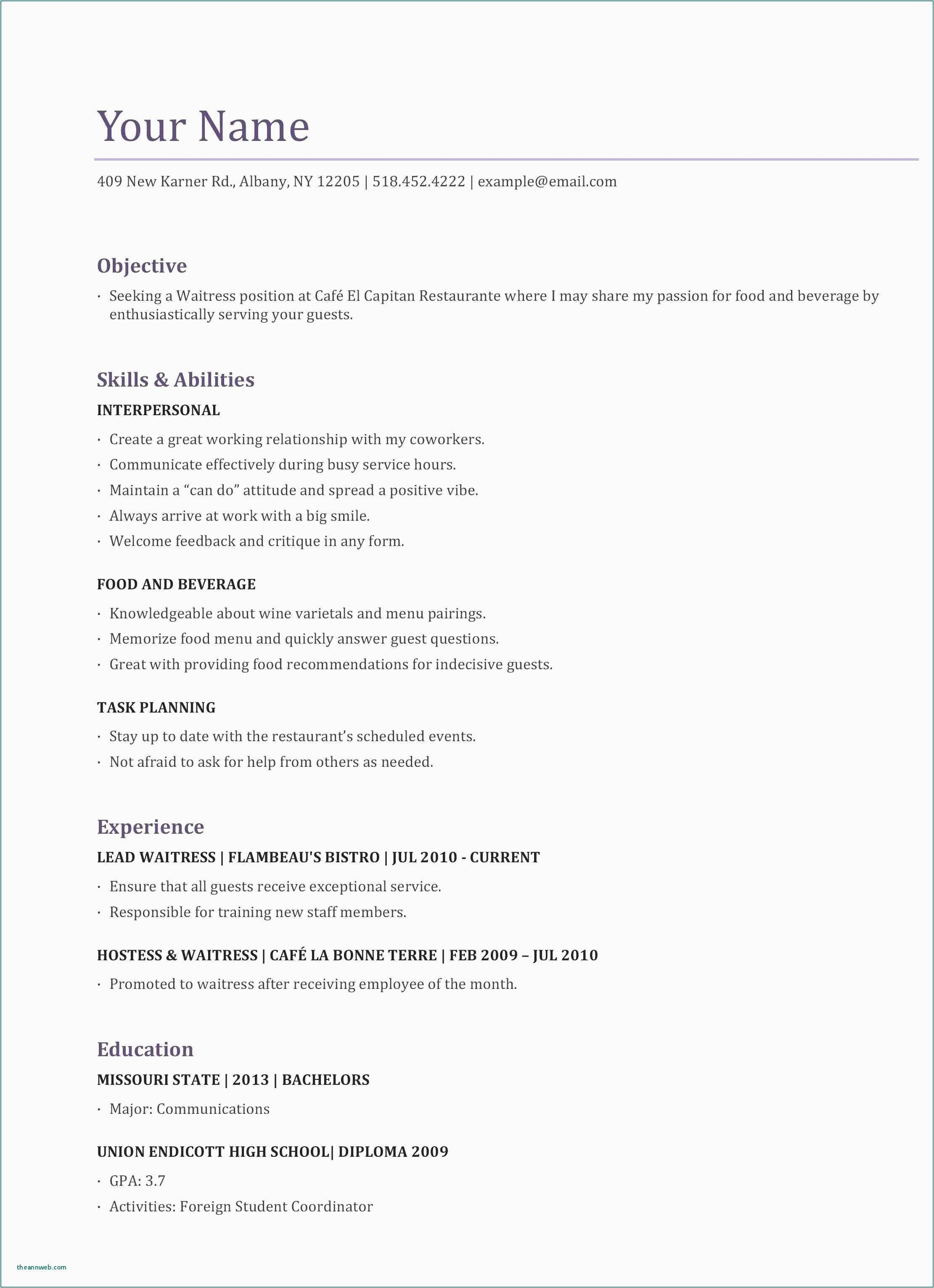 Resume after First Job Resume for First Job Examples