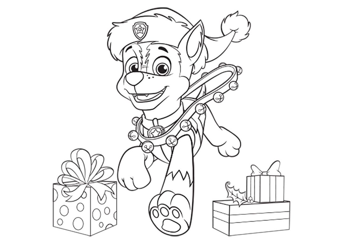 Chase for the New Year coloring page - Paw Patrol | Paw patrol ...