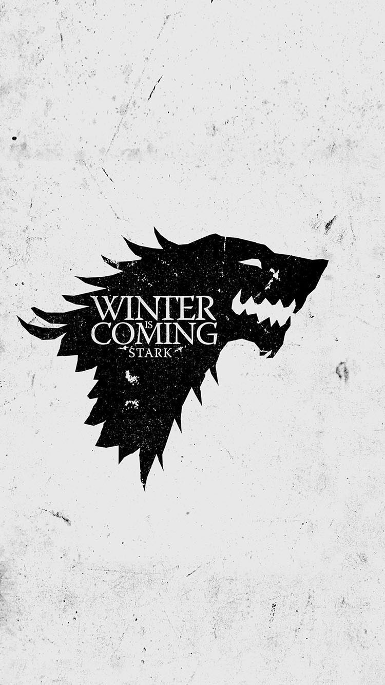 Stark Wolf Game Of Thrones Winter Is Coming Light Grunge Iphone 6