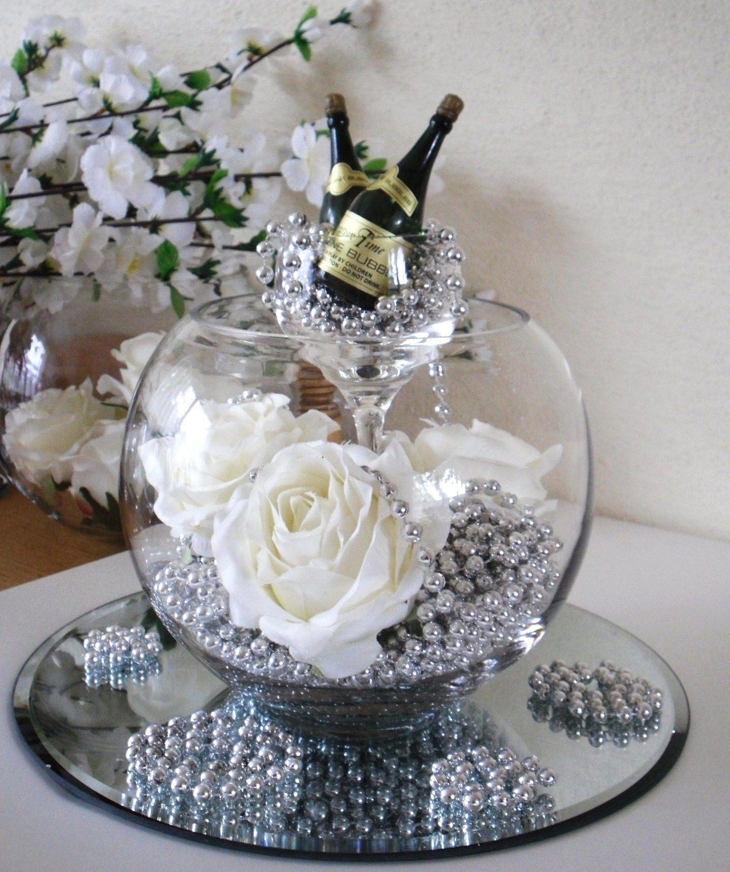 Table Art ~business cards in glass or ~ vnj & Celebration Centrepiece | wedding | Pinterest | Centerpieces ...