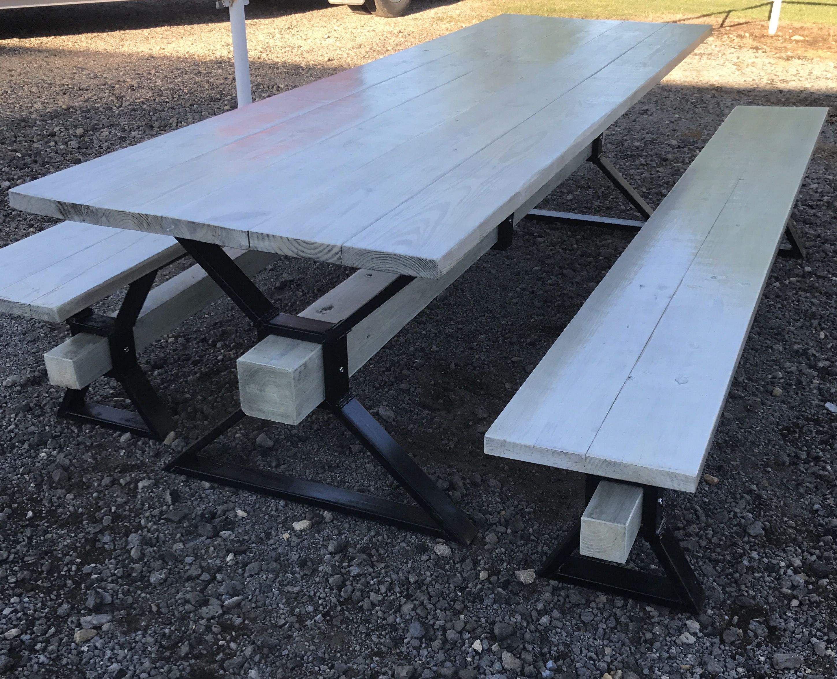 Metal Frame Picnic Table Projects Pinterest Picnic Tables - Stainless steel picnic table