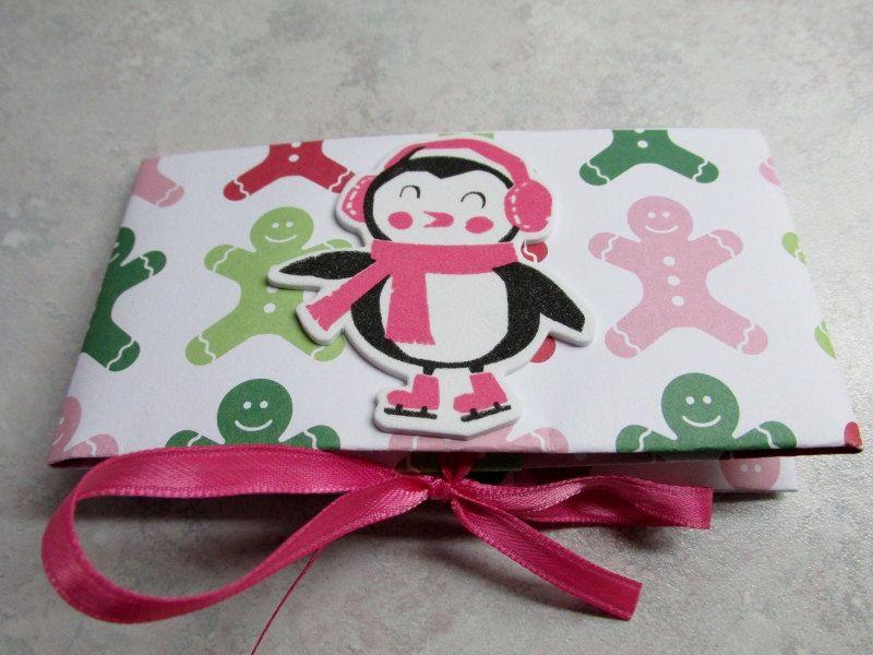 Cute Christmas Gift Card Holder - Gingerbread Men & Penguin ...