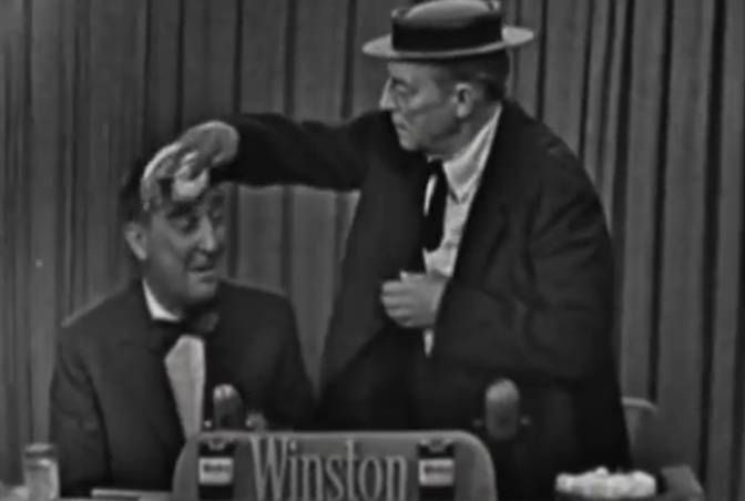 Buster on one of Garry Moore's game shows.