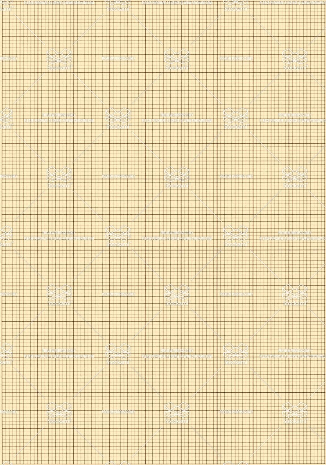 Old Sepia Graph Paper Square Grid Background  Stockami  Royalty
