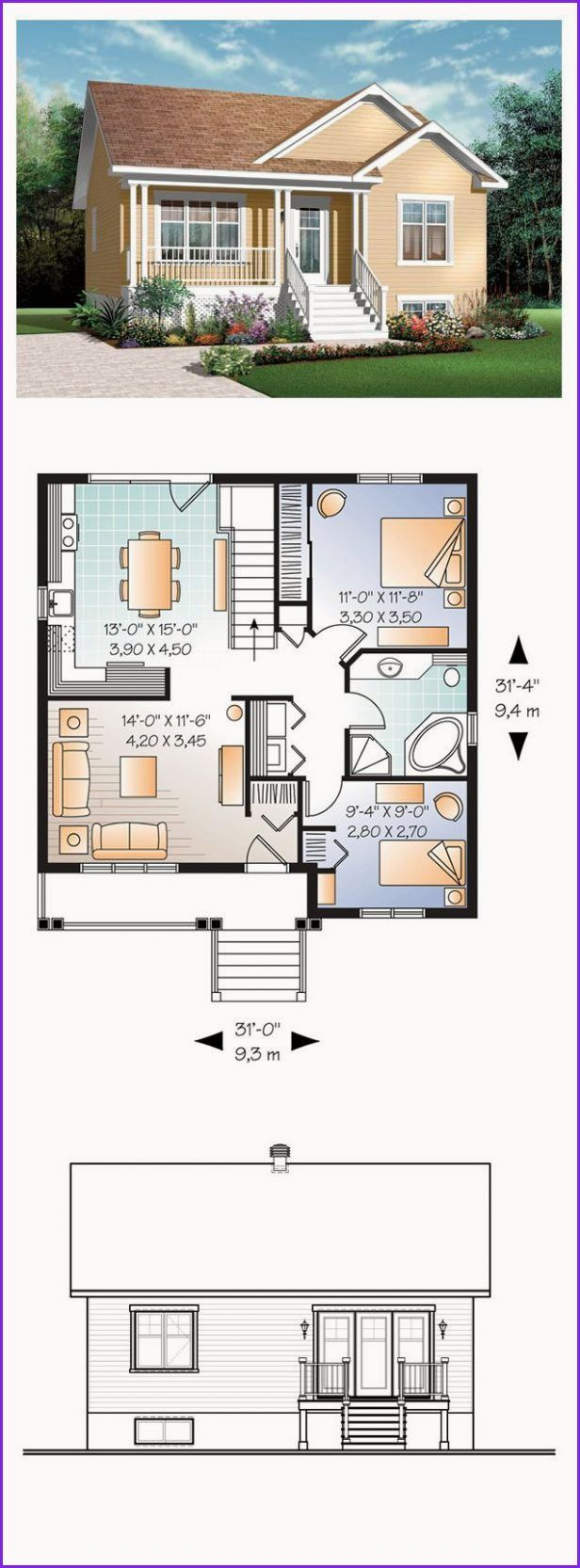 Awesome Small Farm House Plans Bungalow House Plans House Plans House Layouts