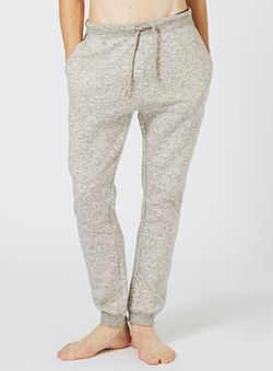 Off White Textured Loungewear Joggers