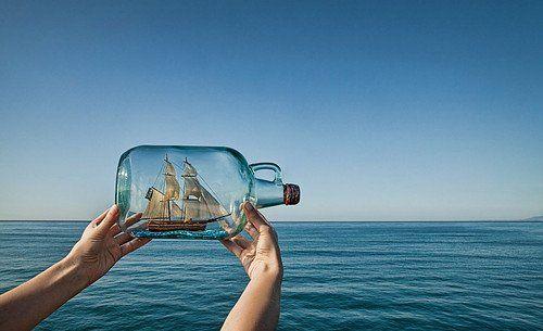 Barco en una botella