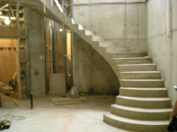 Best Curved Concrete Stairs With Images Stairs Concrete 400 x 300