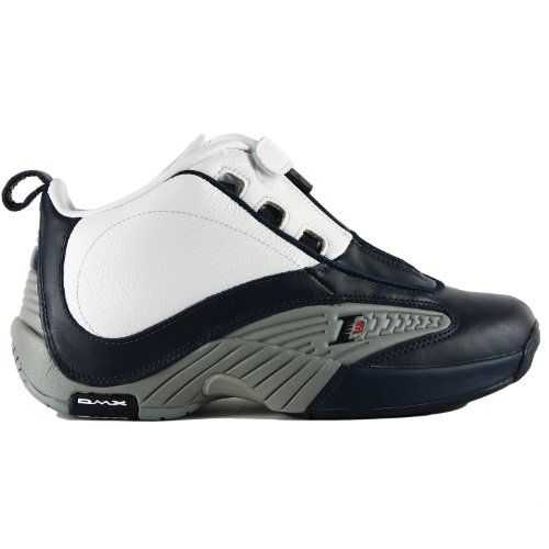 Reebok Answer IV Basketball Sneaker (Big Kid),Athletic Navy/Flat Grey/