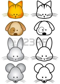 Dessin Chien Et Chat Illustration Definie Des Animaux De